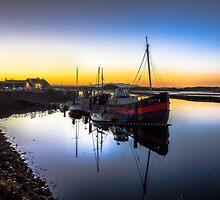 Irvine Harbour at Dusk by ScotPix