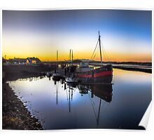 Irvine Harbour at Dusk Poster