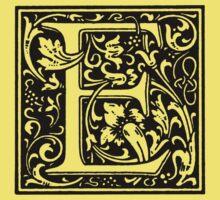 William Morris Renaissance Style Cloister Alphabet Letter E Kids Clothes