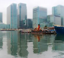 London Docklands canary Wharf by liberthine01