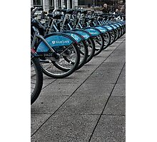 Boris Bikes Photographic Print