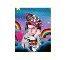 In the Candy Clouds of the Sticker Kingdom Art Print