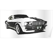 Mustang GT500 Graphic Poster