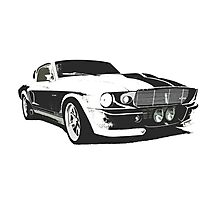 Mustang GT500 Graphic Photographic Print