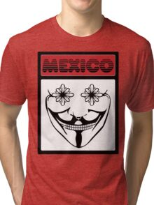 V for Vendetta x Mexican Skull Tri-blend T-Shirt