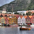 Bergen Harbour -- Business As Usual by Larry Lingard-Davis