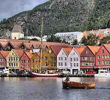 Bergen Harbour -- Business As Usual by Larry Lingard/Davis