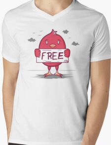 Free Bird Mens V-Neck T-Shirt