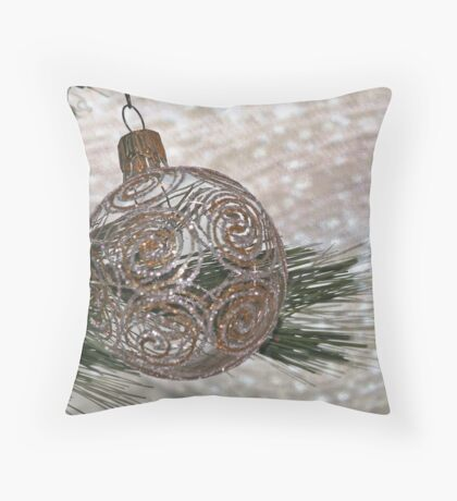 Ornament in Ice Throw Pillow