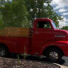 """""""Here Comes Big Red"""" 1951 Ford F-6 One Ton Pickup Truck by TeeMack"""