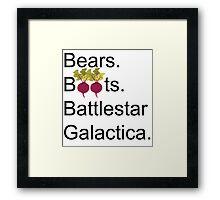 The Office US - Bears. Beets. Battlestar Galactica Framed Print