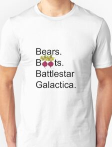 The Office US - Bears. Beets. Battlestar Galactica T-Shirt