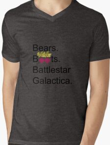 The Office US - Bears. Beets. Battlestar Galactica Mens V-Neck T-Shirt