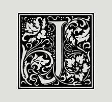 William Morris Renaissance Style Cloister Alphabet Letter J Unisex T-Shirt