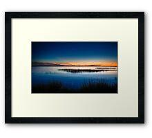 Twilight at Little Toms Cove - Chincoteague National Wildlife Refuge, Virginia Framed Print