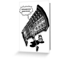 Drunk Dalek Greeting Card