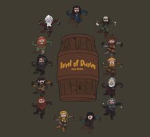 Bilbo's Barrel of Dwarves by Mloney9