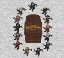 Bilbo's Barrel of Dwarves One Piece - Long Sleeve