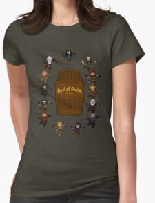Bilbo's Barrel of Dwarves Womens Fitted T-Shirt