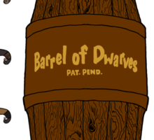 Bilbo's Barrel of Dwarves Sticker