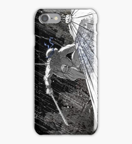 Ninja Turtle Leonardo in the Rain iPhone Case/Skin