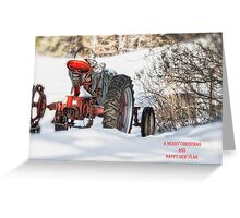 Winter Downtime Christmas Card Greeting Card