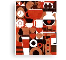 Coffee story Canvas Print
