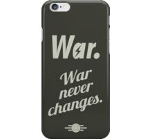 Fallout 4 - War never changes. iPhone Case/Skin