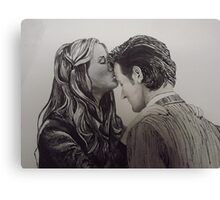 Amy Pond and the Doctor close-up Canvas Print