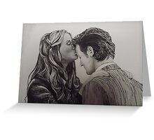 Amy Pond and the Doctor close-up Greeting Card