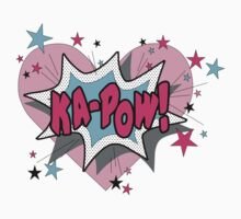 Girl comic KAPOW superhero shirt Kids Clothes