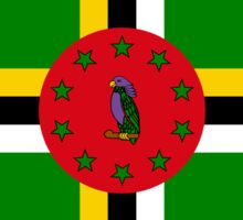 Dominica American Multinational Patriot Flag Series Sticker