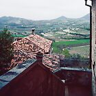 View from front steps of Petrarch's home Arqua Petrarcha Italy 198404170025 by Fred Mitchell