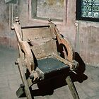Petrarch's chair Arqua Petrarch Italy 198404170029 by Fred Mitchell