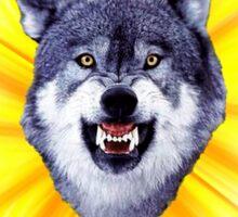 Courage Wolf - Eat Defeat Taste Victory Sticker