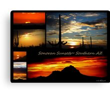 Sonora Sunsets~ Southern AZ Canvas Print