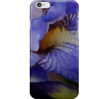 blue iris flower and bud abstract iPhone Case/Skin