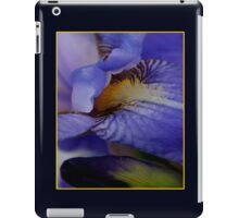 blue iris flower and bud abstract iPad Case/Skin