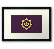 The Queens Emblem Framed Print