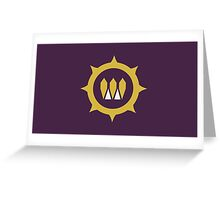 The Queens Emblem Greeting Card