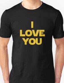 Star Wars Princess Leia I Love You T-Shirt