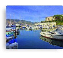Cap Ferrat Boats Canvas Print