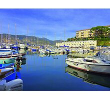 Cap Ferrat Boats Photographic Print