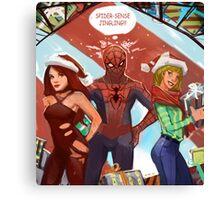 Spider christmas Canvas Print