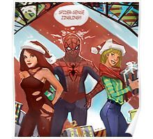 Spider christmas Poster