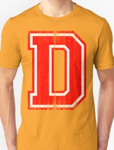 Big Red Letter D T-Shirt