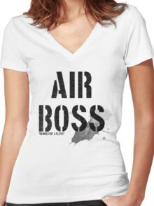 Air Boss (requestin' a flyby) Women's Fitted V-Neck T-Shirt