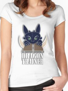Dragon Trainer Tee (With Text) Women's Fitted Scoop T-Shirt