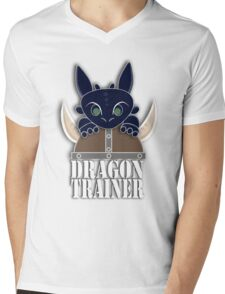 Dragon Trainer Tee (With Text) Mens V-Neck T-Shirt