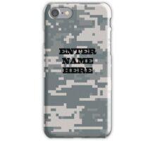 Camouflage - Snow Digital CUSTOM iPhone Case/Skin